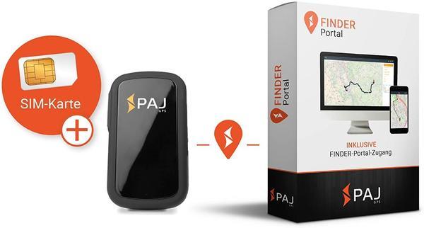 PAJ ALLROUND GPS Tracker Fahrzeugtracker, Personentracker, Multifunktionstracker Schwarz