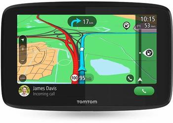 TomTom GO Essential Pkw-Navi (12,7cm (5 Zoll), mit Freisprechen, Siri und Google Now, Updates über Wi-Fi, Lebenslang Traffic und Karten für 49 Länder, Smartphone-Benachrichtigungen mit TMC Empfänger)