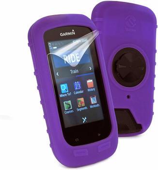 Tuff-Luv Silikon Schutzhülle für Garmin Edge 1000 violett
