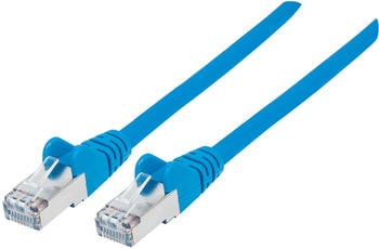 Intellinet Patchkabel Cat 7 S/FTP 0,25m blau