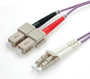 Value LWL-Kabel LC/SC 50/125 OM4 - 5,0m