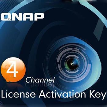 QNAP Lizenz - vier Kameras zusätzlich [für Surveillance Station Videoverwaltungssystem]