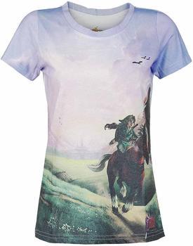 bioworld-t-shirt-damen-the-legend-of-zelda-ocarina-time-3d-mehrfabig-m