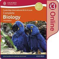 Oxford Childrens Books Cambridge International AS & A Level Complete Biology Enhanced Online Student Book. Digital Licence Key