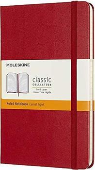 Moleskine Hardcover Medium liniert 208 Seiten scharlachrot