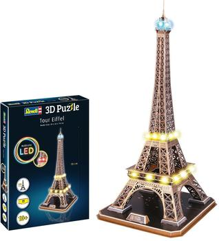 REVELL - 3D Puzzle - Tour Eiffel with LED