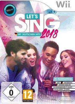 Let's Sing 2018 mit Deutschen Hits + 2 Mikrofone (Wii)