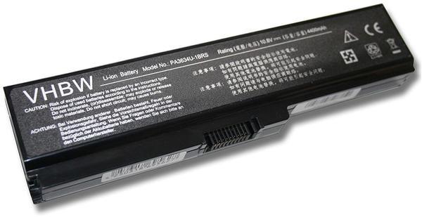 vhbw Li-Ion Akku 4400mAh (10.8V) für Notebook Laptop Toshiba Satellite L750/04P, L750/052, L750/06P,