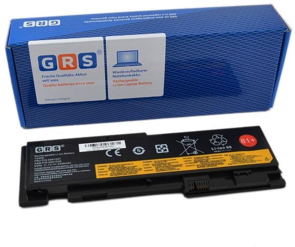 GRS Notebook Akku Lenovo ThinkPad T420s, ThinkPad T420si, ThinkPad T430s, ersetzt: 0A36287, 42T4844, 42T4846, 42T4847, 42T4845, 45N1036, 45N1037, Laptop Batterie 4400mAh,11,1V