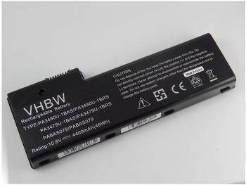 vhbw Li-Ion Akku 4400mAh (10.8V) für Notebook Laptop Toshiba Satellite P105-S6227, P105-S921, P105-