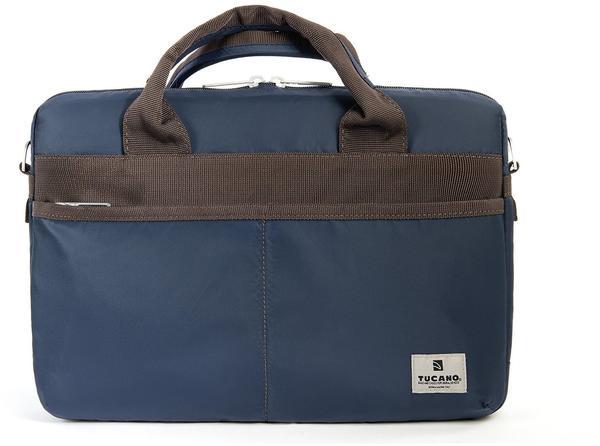 Tucano Shine Slim Nylon Tasche für 33 cm (13 Zoll) Laptop blau