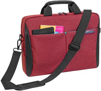 Pedea Lifestyle Notebooktasche für 17,3 (43,9cm) mit Zubehörfach und Schultergurt, rot