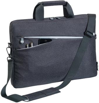 PEDEA Fashion für 17,3 Zoll (43,9cm) mit Zubehörfach, Schultergurt, schwarz
