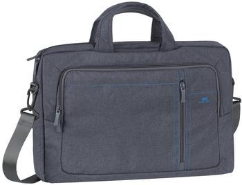 """RivaCase® Rivacase Notebooktasche bis 15.6"""" - Stilvolle Tasche aus wasserabweisenden Material und gepolsterten Seiten - Grau"""