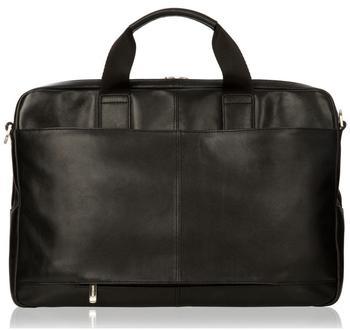 knomo Amesbury (15,6 Full Leather Briefcase schwarz