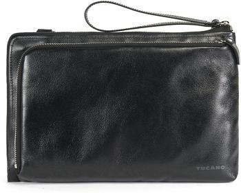 Tucano Elle, Damen Notebooktasche aus Leder für 11 Zoll, schwarz