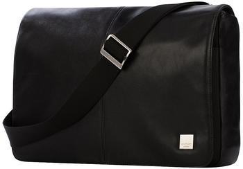 Knomo Brompton Classic - Leder Tasche Kobe Soft Messenger 13 Zoll black