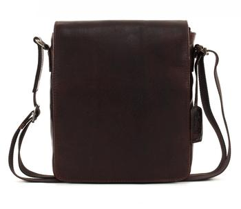 Leonhard Heyden Roma Messenger Bag S Dark Brown