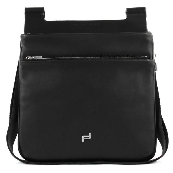 Porsche Design Shyrt-Leather ShoulderBag XSVZ Umhängetasche 27 cm schwarz