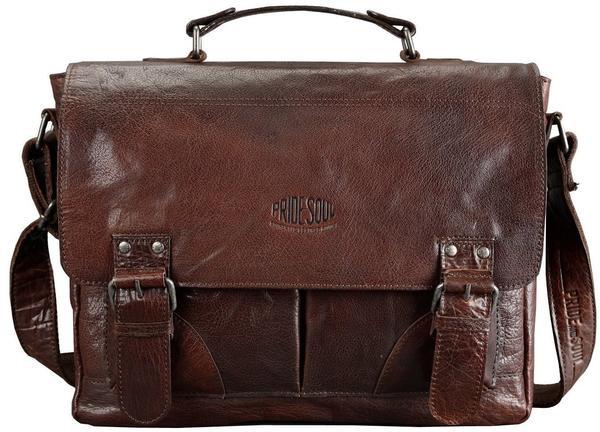 PRIDE & SOUL Pride and Soul Businesstasche Baggie Bag marone