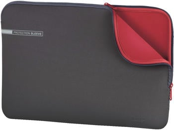 "Hama Notebook-Sleeve Neoprene 17,3"" grau-rot"