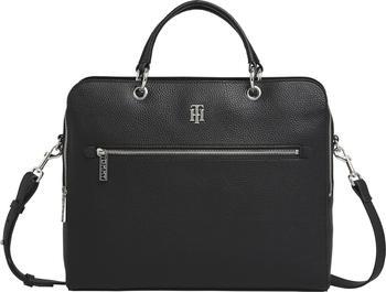 Tommy Hilfiger TH Essence Monogram Plaque Computer Bag (AW0AW08852) black