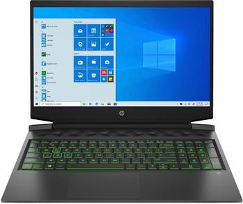 HP Pavilion Gaming 16-a0353ng, Gaming Notebook mit 16.1 Zoll Display, Core i5 8 GB RAM, 512 GB & GeForce® GTX 1650, Schwarz