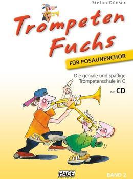 Hage Musikverlag Trompeten Fuchs Band 2 in C für Posaunenchor (mit CD)