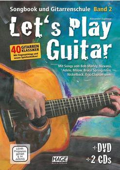 Hage Musikverlag Let's Play Guitar Band 2 (mit 2 CDs und DVD)
