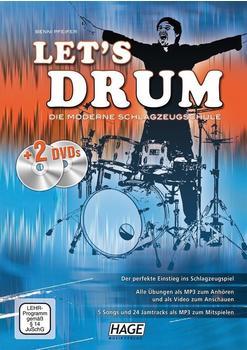 Hage Musikverlag Let´s Drum (mit 2 DVDs)