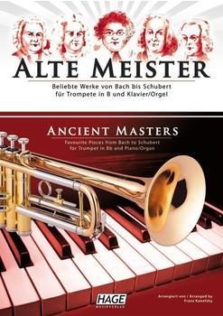 Hage Musikverlag Alte Meister für Trompete in B und Klavier/Orgel
