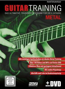 Hage Musikverlag Guitar Training Metal (mit Daten-DVD)