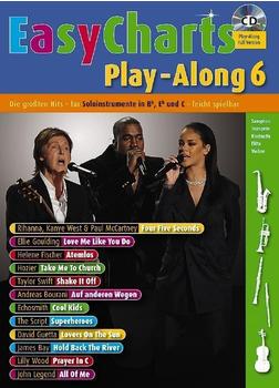 Schott Music Easy Charts Play-Along, für Bb/Eb/C-Instrument, m. Audio-CD