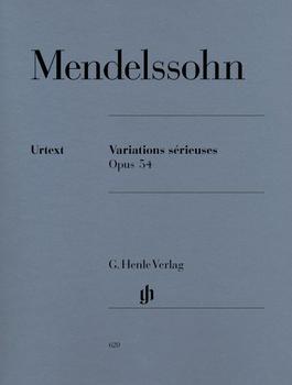 Henle Verlag Felix Mendelssohn Bartholdy Variations sérieuses op. 54