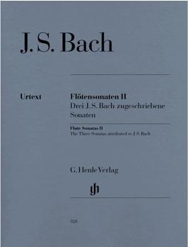 Henle Verlag Johann Sebastian Bach Flötensonaten, Band II (Drei J. S. Bach zugeschriebene Sonaten)