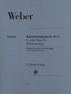 Henle Verlag Carl Maria von Weber Klarinettenkonzert Nr. 2 Es-dur op. 74
