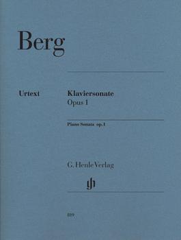 Henle Verlag Alban Berg Klaviersonate op. 1