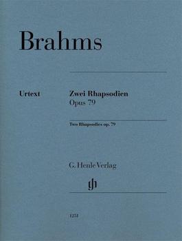Henle Verlag Johannes Brahms Zwei Rhapsodien op. 79