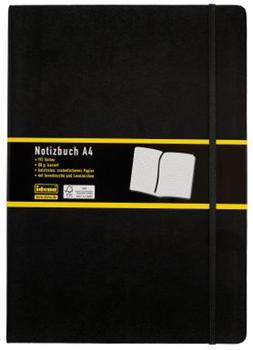 idena-notizbuch-a4-kariert-schwarz-209280