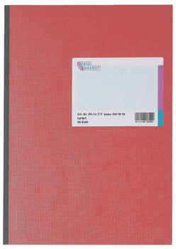 König & Ebhardt Kladde kariert A4 96 Blatt rot/grau Leinen-Kartoneinband (86-14272)