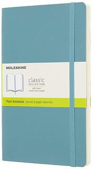 Moleskine Large Soft Cover Plain Notebook Blue