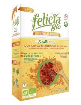 Felicia Bio Rote Linsen Fusilli (250g)