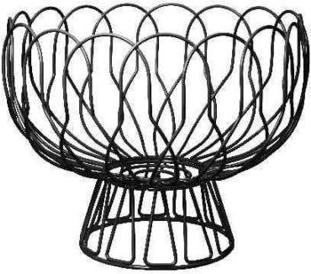 Present Time Obstkorb Wired 26 cm schwarz