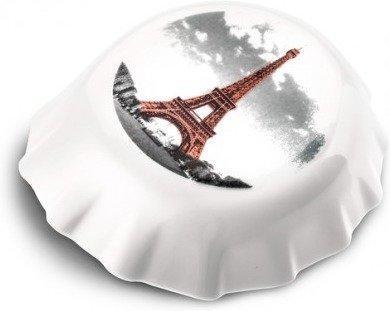 Koziol Flaschenöffner PLOPP mit druck weiß Paris