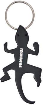 Munkees Flaschenöffner Lizard schwarz Stahl 6,6 cm