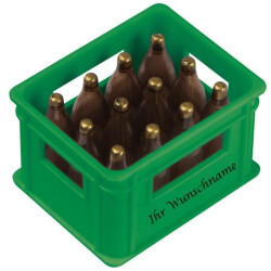 Macma Flaschenöffner mit Gravurin der Form eines BierkastensFarbe: grün