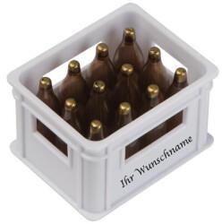 Macma Flaschenöffner mit Gravurin der Form eines BierkastensFarbe: weiß