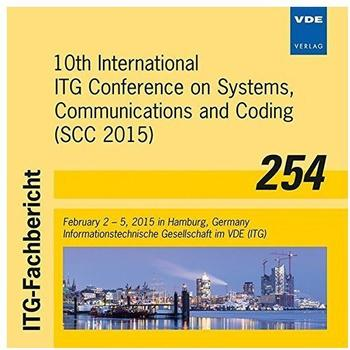 Vde-Verlag 10th International ITG Conference on Systems, Communication: and Coding (SCC 2015) February 2 - 5, 2015 in Hamburg, Germany