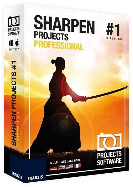 Franzis SHARPEN projects professional ESD DE Win