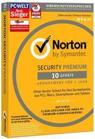 Symantec Norton Security Premium 2017 10 User ESD DE Win